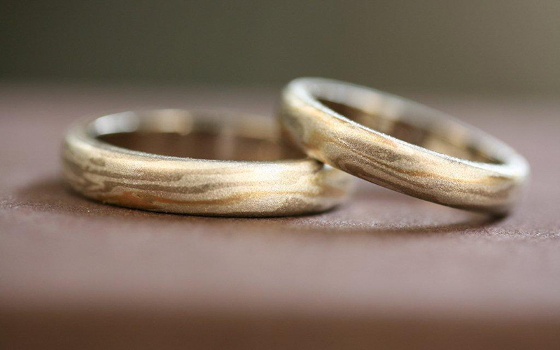 木目金の結婚指輪【上善水の如し】