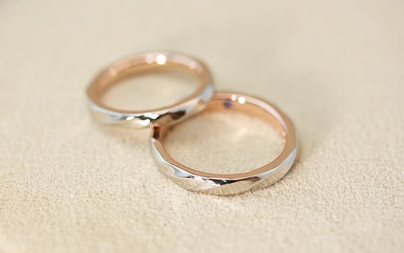 オーダーメイドの結婚指輪【慈愛-削り出し】