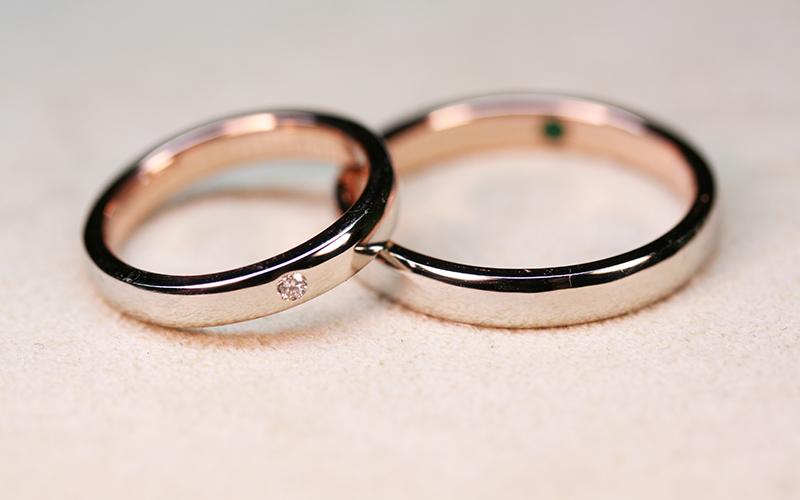 オーダーメイドの結婚指輪【慈愛-平打】